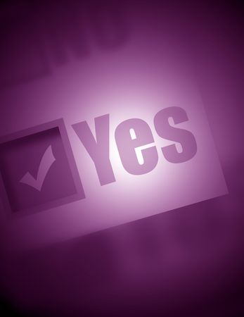 notification: Yes Stock Photo