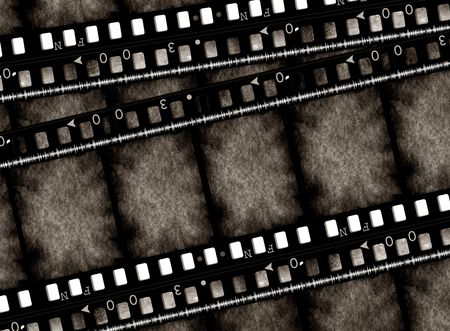 negativity: Old 35 mm movie Film reel,2D digital art
