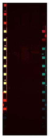 negativity:  Film roll,2D digital art Stock Photo