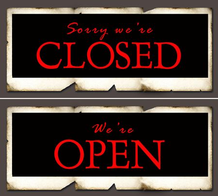 window seal: Closed and open sign