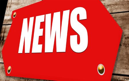 actuality: 2D illustration of a  news sign