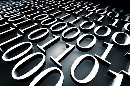 Binary code,3d rendered art Stock Photo - 3406551
