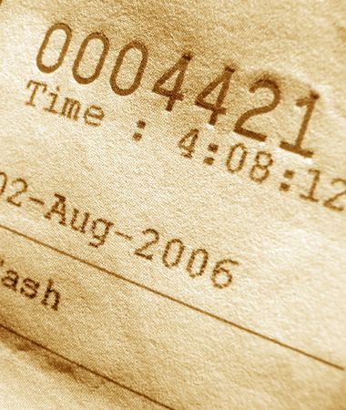 Close-up of invoice number photo