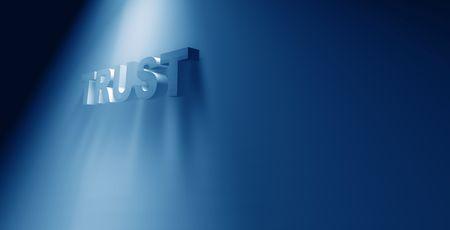 3d art: Trust, arte 3D  Foto de archivo