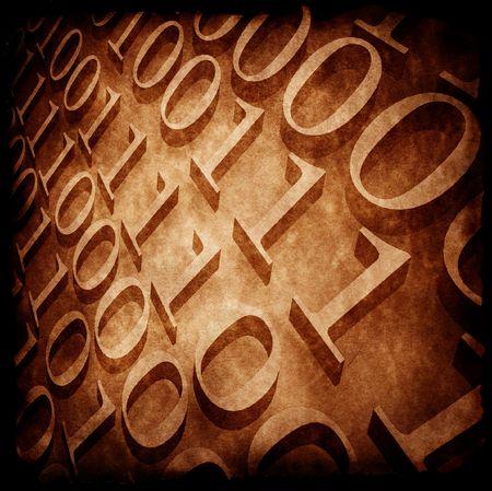 Binary code ,2D art Stock Photo - 3406534