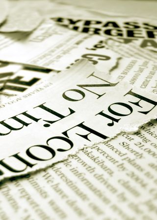News paper headlines Stock Photo - 3433676
