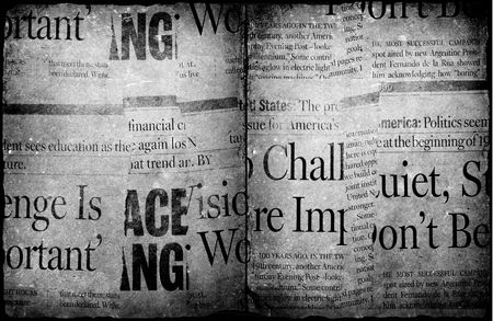 broadsheet: News paper text with old paper