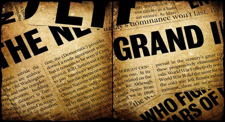 happenings: News paper text with old paper
