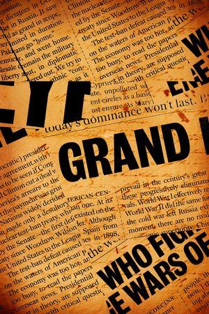 informait: Nouvelles texte papier avec de vieux papier Banque d'images