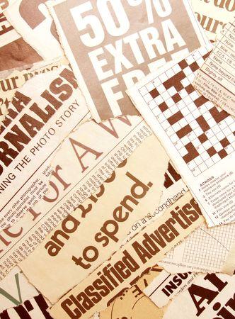 newsworthy: News paper headlines Stock Photo