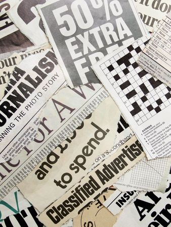 Close up of new paper headlines Stock Photo - 3406352