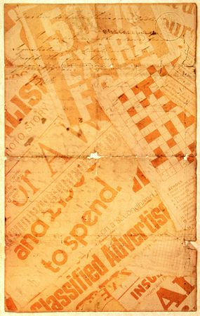 News paper text with old paper Stock Photo - 3406346