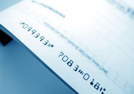 vals geld: Close-up van de cheque boek