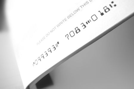 Close up of bank cheque book photo