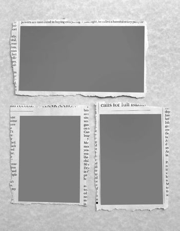 Abstract border with newspaper text photo