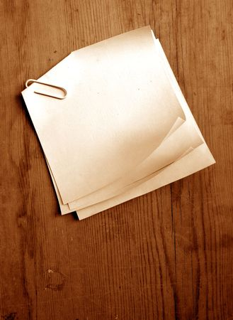 Writing old note paper on wood background Stock Photo - 3432896