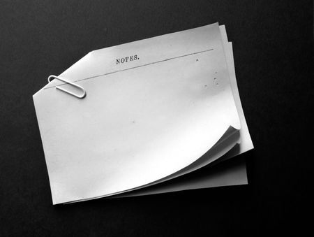 Old note papers Stock Photo - 3456450