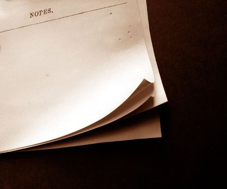 Writing old note paper on wood background Stock Photo - 3431189