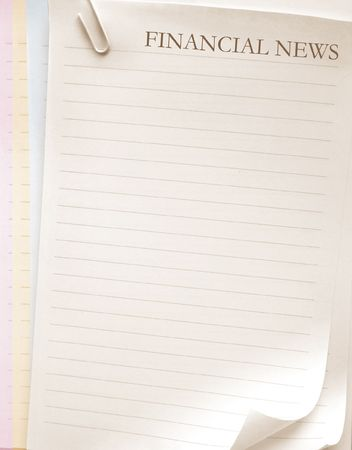 posting: Papers sheet with news word
