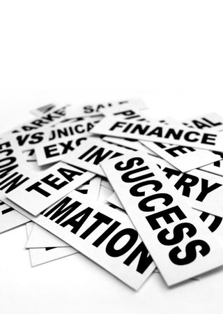 Close up of business new headlines Stock Photo