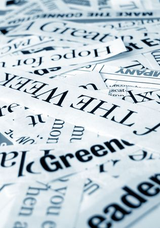 Close up of new paper headlines Stock Photo - 3440440