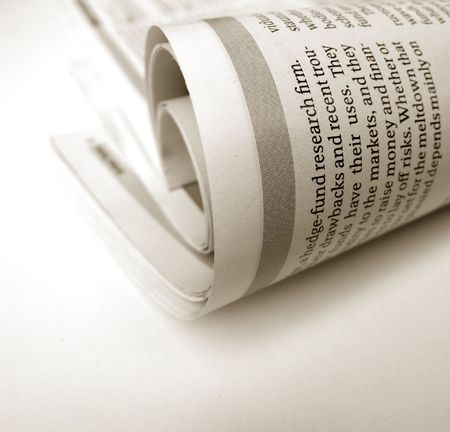 happenings: Close up of new paper article Stock Photo