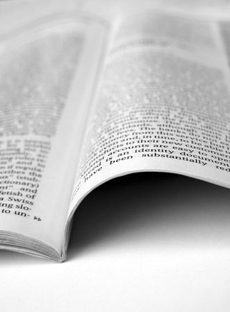 newsworthy: Close up of new paper article Stock Photo
