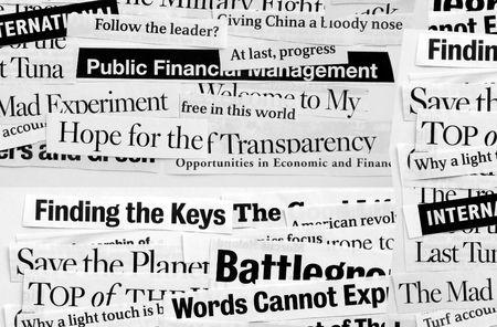 News paper headlines  Stock Photo - 3444680