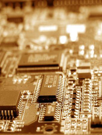 Close up electronic circuit board photo