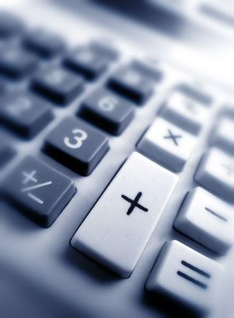Close up of Calculator keypad Imagens