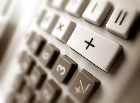 decimal: Close up of Calculator keypad Stock Photo