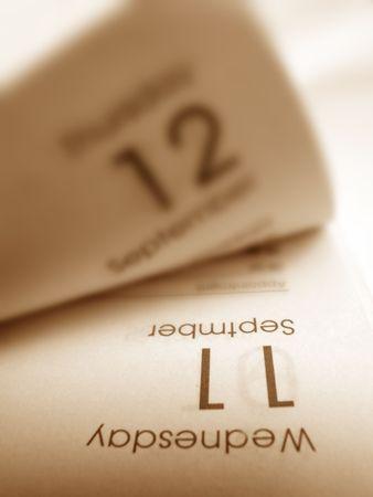 almanac: Close up of a diary