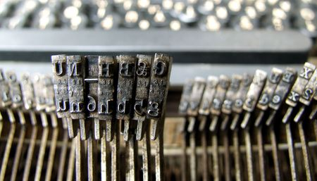 Close up of old typewriter Stock Photo - 3585952