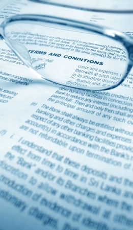 conditions: Close up a business agreement Stock Photo