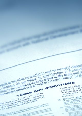 autograph: Close up a business agreement Stock Photo