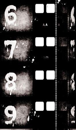negativity: Grungy film ,2D digital art