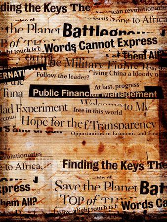 periodicos: Antiguo texto period�stico Foto de archivo