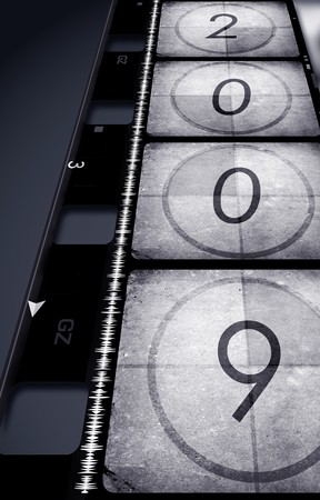 Old film with 2009,2D art Stock Photo - 4157282