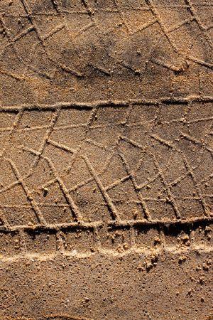 Sandy soil: La suciedad de fondo con el veh�culo modelo pista Foto de archivo