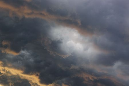 Close up of rainy  clouds for background   photo