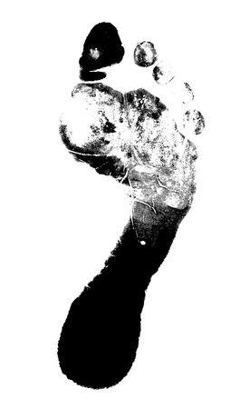 printout: Printout of human foot with unique detail Stock Photo