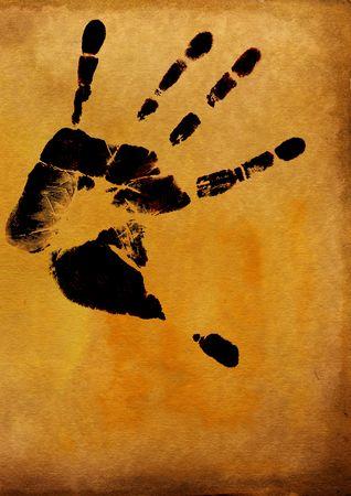 identidad cultural: Impresi�n de la mano del hombre con el �nico detalle