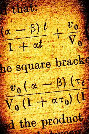 algebraic: Vintage science Stock Photo