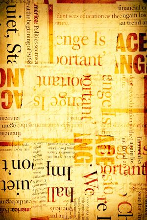 News paper text with old paper Stock Photo - 4899810