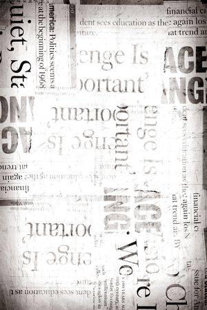 News paper text with old paper Stock Photo - 4899809