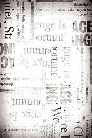 Nieuws papier tekst met oud papier