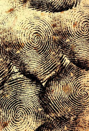 odcisk kciuka: Odcisk kciuka Zdjęcie Seryjne