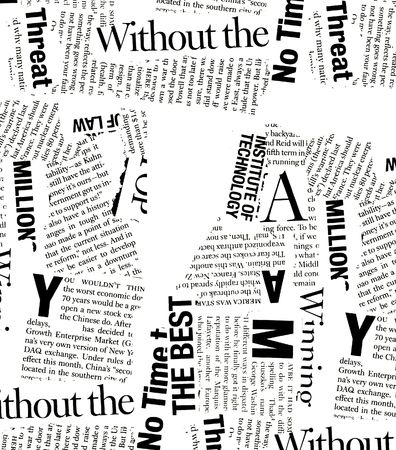 Close-up van de krant met koppen