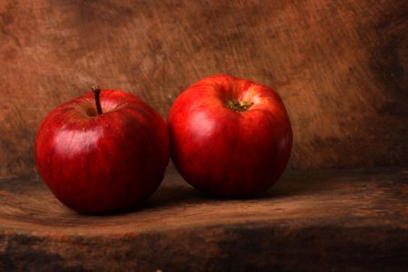 Close up of red apple photo