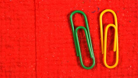 Color paper clips with handmade paper photo